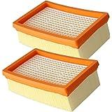 AMSAMOTION 2 Filtre Remplacement pour Aspirateur Kärcher WD4 WD5 WD6 MV4 MV5 MV6 plissé Plat