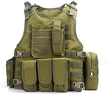 YAKEDA Ventilateurs Ventilateurs Armée tactique Vest Cs Champ Swat Tactical Army Vest Vest extérieure Cs Jeu Vest...