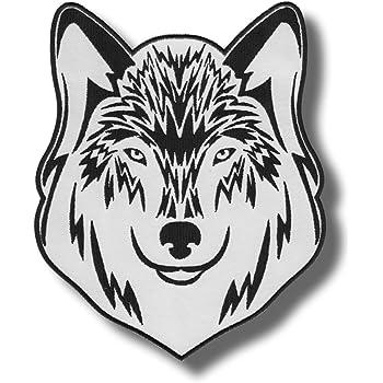 Heulender Wolf Aufn/äher B/ügelbild Patch Applikation