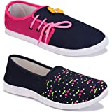 Shoefly Women Multicolour Latest Collection Sneakers Shoes- Pack of 2 (Combo-(2)-1451-11028)