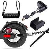 Remschijfslot, elektrische step, veiligheidsslot, diefstalbeveiliging, staaldraad, blokkering voor motorfiets, fiets, e-scoot