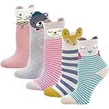 PUTUO Calcetines de Algodón Niñas Navidad Calcetines Animales, Niña Calcetines de Invierno Lindo Calcetines de Divertidos Oca