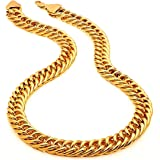 LVA CREATIONS Gold Plated Long Necklace Fashion Fancy Jewellery Collection Neck Chain for Men Women Girls Boys…