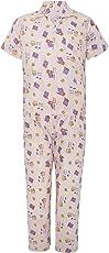 Punkster White 100% Cotton T-Shirt & Pyjama Set for Boys