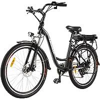 ANCHEER 26 Zoll City E-Bike mit 250W Motor 6-Gang-Getriebe, Elektrofahrrad Pedelec mit 36V 12.5AH Abnehmbarer Lithium…