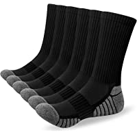 Alaplus Mens Socks 6 Pairs Wicking Breathable Cushion Comfortable Casual Crew Socks Outdoor Multipack Performance Hiking…