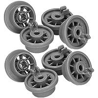 Roulettes Lave Vaisselle Bosch - Set Universel Complet de 8 Roues pour Panier Inférieur - Compatible Avec Lave-Vaisselle…