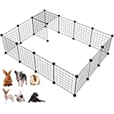 Langxun Metal Wire Storage Cubes Organiser, DIY Small Animal Cage for Rabbit, Guinea Pigs, Puppy Pet Products Portable Metal