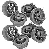 Roulettes Lave Vaisselle Bosch - Set Universel Complet de 8 Roues pour Panier Inférieur - Compatible Avec Lave-Vaisselle Siem