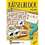 Rätselblock ab 6 Jahre, Band 1, A5-Block: Kunterbunter Rätselspaß: Labyrinthe, Fehler finden, Suchbilder, Wörtergitter, Sudok
