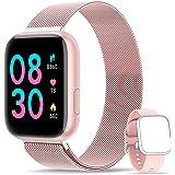 WWDOLL Smartwatch, Reloj Inteligente IP67 con Monitor Rítmo Cardíaco Sueño Podómetro Notificaciones, Reloj Deportivo 1.4 Inch