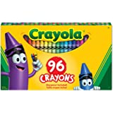 WMU Crayola 52-0096 96 Count Crayon Box with New Specialty Crayon Samples by