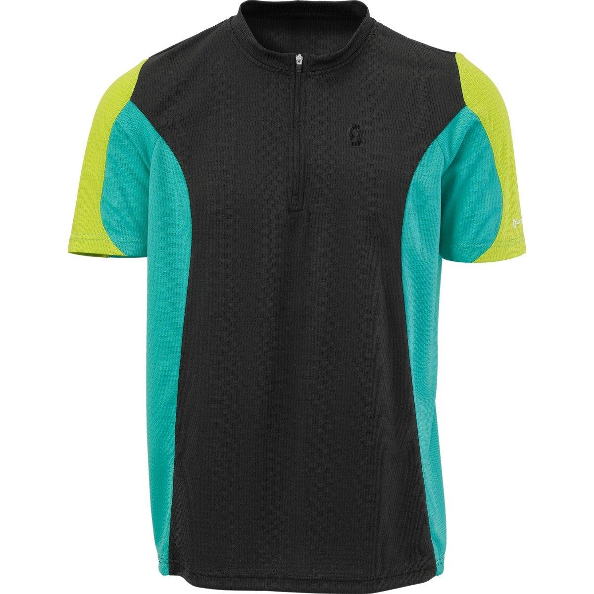 Scott Path 40ciclismo maniche corte, con collo maglietta 221581157200, blk/turquois, XL