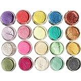 geneic 20 Stks/set Parelmoer Poeder Handleiding DIY Sieraden Filler Crystal Modder Epoxy Hars Kleur Dye Pigment