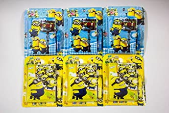 ShopKooky Minion Cartoon Character Printed Cute Creative Attractive Pocket Diary With Pen (Pack Of 12) | Specially Designed For School Going Kids Children Boys Girls For Writing Their Stories Secrets Notes Etc | Best For Gifting Purpose | Return Gifts | Birthday Gifts Online