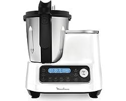 Moulinex ClickChef Robot de cocina multifunción 3.6 l Recetario en Castellano, 5 programas Auto, temperatura de 30 a 120 grad