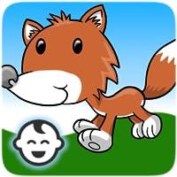 Lustige Karten-Paare: Weltraum, Wald und Tiere - Lernspiel für Kleinkinder