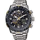 Citizen Mens Solar Powered Watch, Analog- Digital Display and Solid Stainless Steel Strap - JY8078-52L