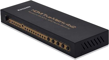 KanaaN 4K UltraHD HDMI 4x2 Matrix Switch