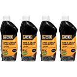 JCB - Heavy Duty Sink Unblocker - Drain Unblocker - Ready to Use Cleaning Products - 4 x 500ML Cleaning Bundle - Kitchen Sink
