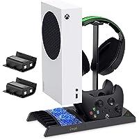 FYOUNG - Supporto di ricarica verticale per Xbox Series S con ventola di raffreddamento, dock di ricarica per Xbox…