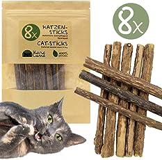 8x Katzensticks mit Zufriedenheitsgarantie I Katzenspielzeug & Zahnpflege I Naturprodukt aus den Zweigen der Matatabi Pflanze