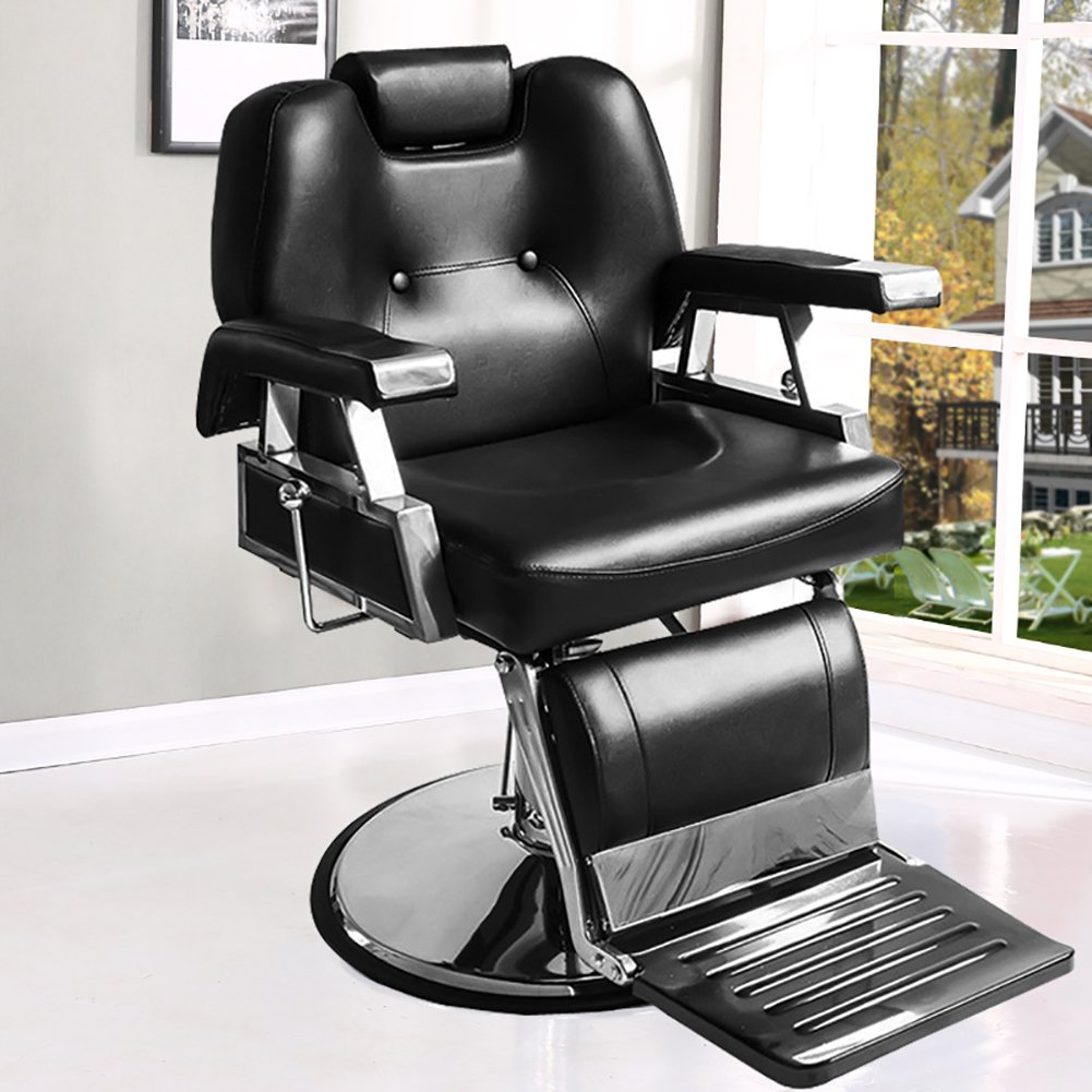 Astonishing Barber Chair Qivange Adjustable Reclining Leather Hairdressing Shaving Chair Styling Beauty Salon Chair Hydraulic Gmtry Best Dining Table And Chair Ideas Images Gmtryco