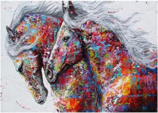 Colorful Horse 5D Round Diamond Painting Embroidery DIY Cross Stitch Set