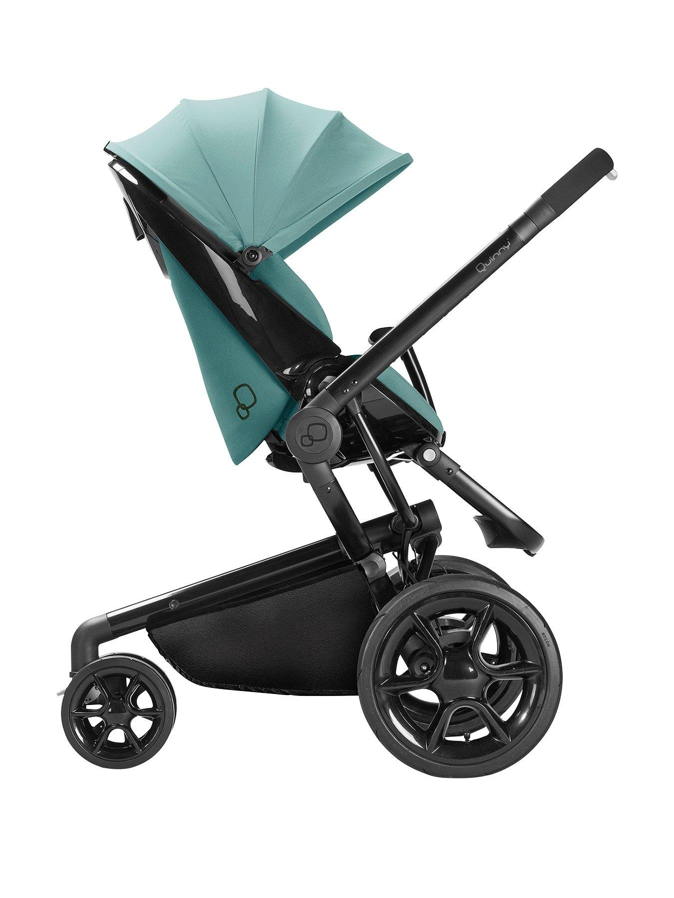 Quinny Quinny Moodd Pushchair, Foldable Carrycot, Pebble Car Seat Package - Novel Nile Quinny  3