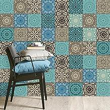 Decorazione Adesivi per piastrelle cucina | Foglio adesivo per mattonelle bagno in ceramica - Stickers da Muro | Montaggio molto facile | 15x15 cm - Design Piastrella araba - Set 20 pezzi
