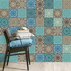Piastrelle pellicola adesive mosaico bagno sticker for Stickers per piastrelle cucina