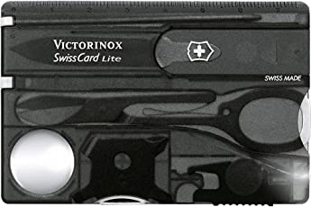 Victorinox Swiss Card Black Swiss Army Knife (0.7333.T3)