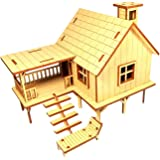 Jupiter Kala Wooden 3-D Puzzle of Beach house Farm House 38 Piece, for Home Decor, Construction Toy, Modeling Kit, School Pro