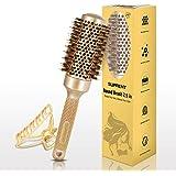 SUPRENT Spazzola per capelli rotonda da 2,9 pollici (barile 1.7''/43mm), per l'asciugatura, spazzola di setola di cinghiale,