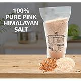 Magic Salt 1 kg de sel (fin) rose de l'Himalaya, pur, de qualité supérieure, non raffiné, 100 % naturel