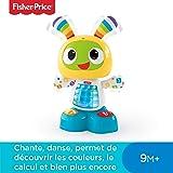 Fisher-Price Bebo le Robot Interactif Jouet d'Éveil avec 3 Modes de Jeu, Musique et Danse, Apprentissage, Enregistrement, pour Bébé de 9 Mois et Plus, CGV44