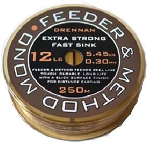 250/m Drennan Feeder and Method Monofil f/ür Loops