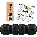 Rollga Foam Roller, HARD, zwart, 45cm, gepatenteerd 4-zone ontwerp
