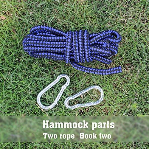 Hängematte Camping Hammock Single/Double Parachute, leicht und tragbar, mit extra Schlafaugenmaske Augenbinde Blindfold - 3
