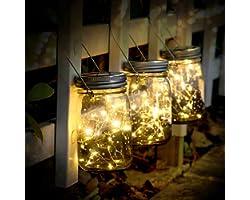 SUNNOW Lampes Décoratives De Jardin Solaire, 3 Pièces 30led Lanterne Solaire, Guirlande Led De Jardin, Éclairage Solaires Ext
