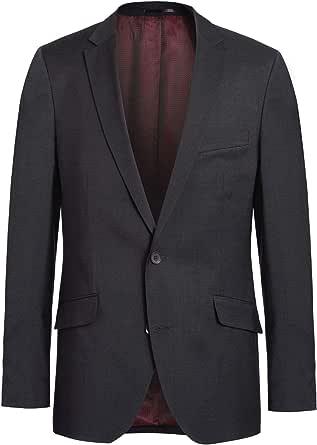 Men's Jacket in Charcoal, Brand: Lanificio Tessuti Italia by Mario (44-64, 24-32, 86-122)