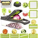 FUKTSYSM Mandolin Slicer - Newest Design Vegetable Chopper, 11 in 1 Mandoline Slicer Adjustable Vegetable Cutter, Vegetable C