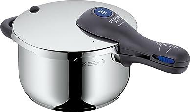 WMF Perfect Plus Schnellkochtopf 4,5l, Cromargan Edelstahl poliert, 2 Kochstufen Einhand-Kochstufenregler, induktionsgeeignet, spülmaschinengeeignet, Ø 22 cm