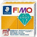 Staedtler 8020-11. Pasta para modelar de color oro metálico Fimo Effect. Caja con 1 pastilla de 57 gramos.