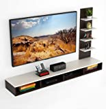 """BLUEWUD Primax Engineered Wood TV Entertainment Wall Unit/Set Top Box Stand (Standard/Ideal for up to 55"""")"""