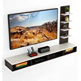 """BLUEWUD Primax Engineered Wood TV Entertainment Wall Unit/Set Top Box Stand for Living Room -Ideal for Upto 55"""" Tv (Wenge Fin"""
