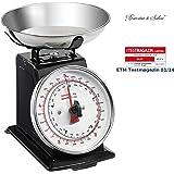 Rosenstein & Söhne Haushaltswaage: Analoge Metall Retro-Küchenwaage bis 5 kg mit Tara-Funktion (Retro Waage)