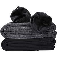 Hotelvs 2 Pezzi Termici Leggings Donna Inverno Caldi Tights Vita Alta Fodera in Caldo Velluto Lunghi Pantaloni, Nero…