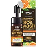 WOW Skin Science Brightening Vitamin C Foaming Face Wash with Built-In Face Brush for Deep Cleansing - No Parabens, Sulphate, Silicones & Color, 100 ml