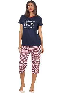 con motivo a righe marine a maniche corte Pigiama da donna Pyjama 64227